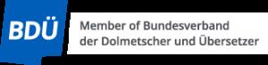 BDÜ Mitgliedslogo (Englisch)